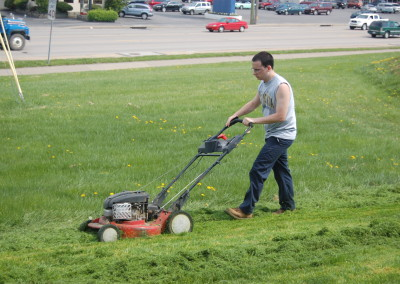 Mowing for a Morgantown commercial customer